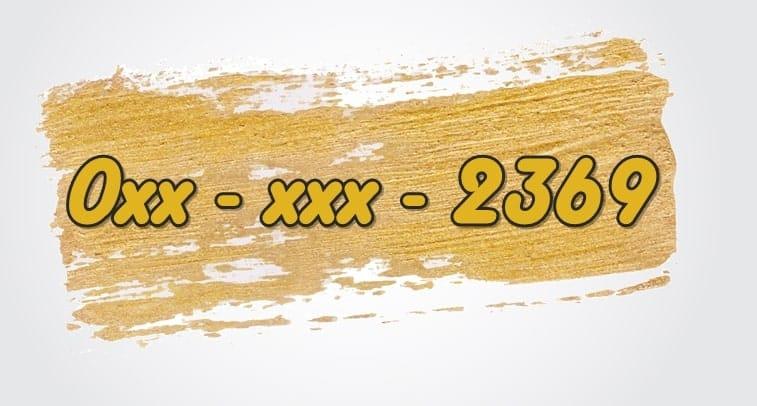 การใช้เลข2369 ในเบอร์ร้านอาหาร